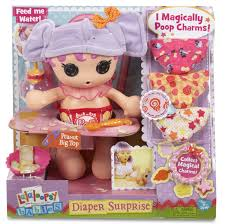 It shits charms into its' diaper for your kid to wear. On her arm.